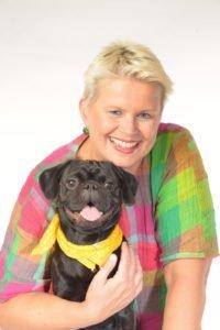 Maren Hollwege und Inselhund Bruce